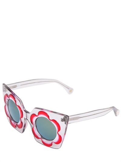 d43d76a71ff MARKUS LUPFER - FLOWER ACETATE SQUARED SUNGLASSES - LUISAVIAROMA - LUXURY  SHOPPING WORLDWIDE SHIPPING - FLORENCE