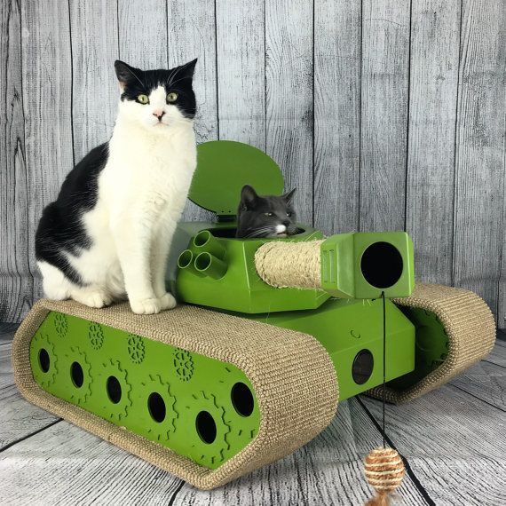 The Ludipuss interactive CatTank! Scratching post! Cat bed! Moving laser! Ping pong balls and mice! What more could your cat want? #cattree