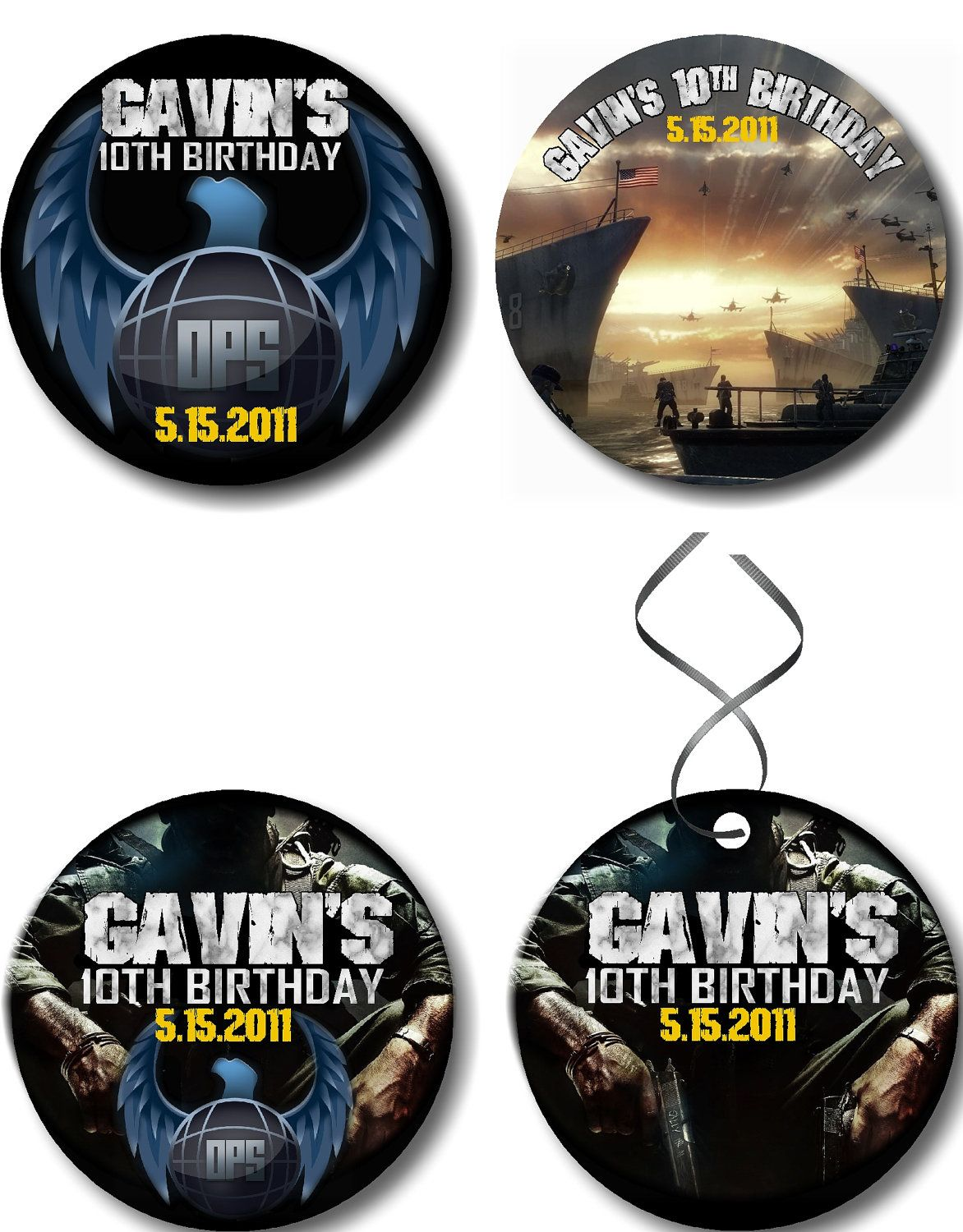 Call of Duty Birthday Party Favor Tags or Labels, COD, Black Ops ...