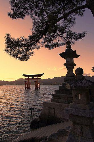 Japon Pays Du Soleil Levant : japon, soleil, levant, Otorii, Paysage, Asiatique,, Japon, Paysage,