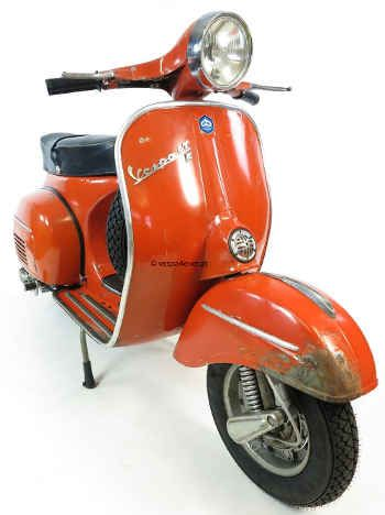 Vespa 125 Gtr Vintage Scooter In Rare Original Condition And Paint