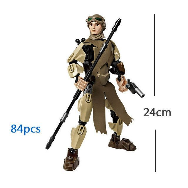 Star Wars Buildable Action Figure Model Building Blocks Toy Finn Rey ...