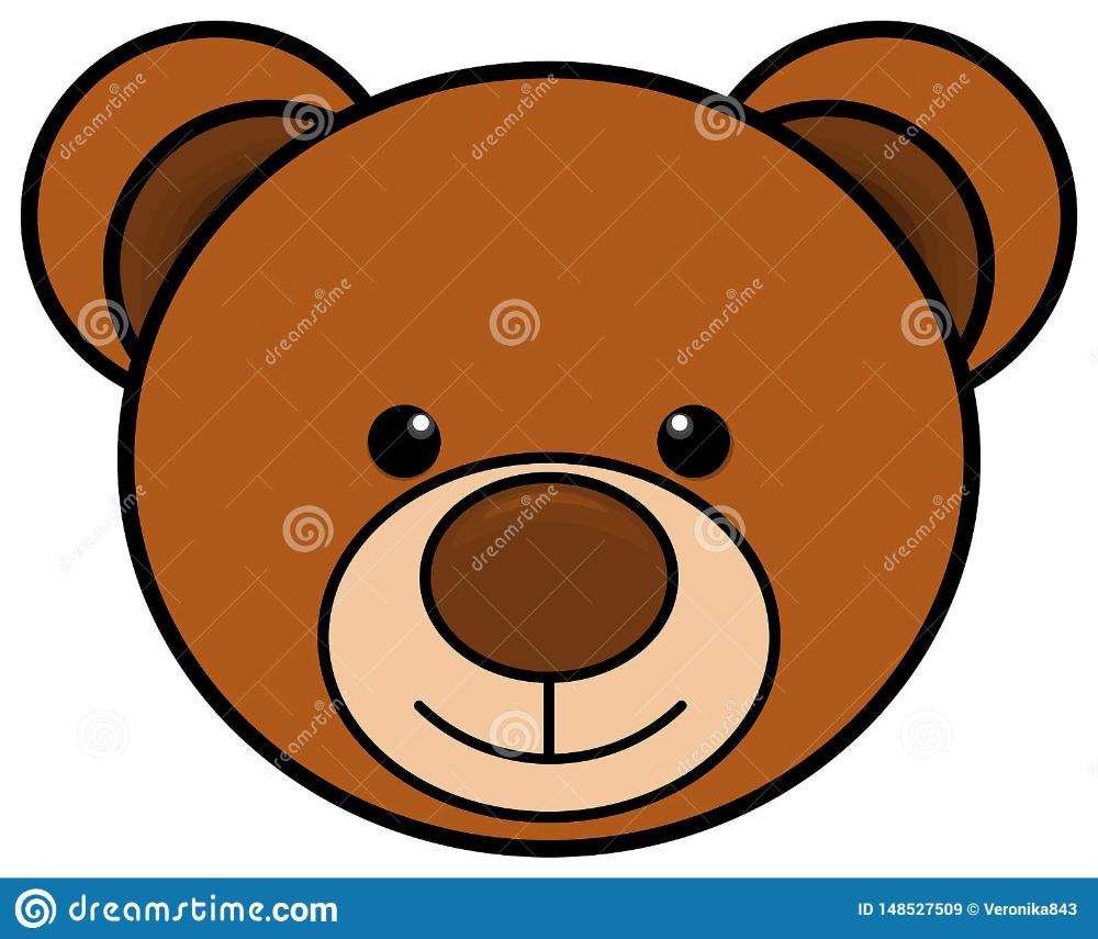 Teddy Bear Head Icon Cute Toy Clipart Vector Illustration Teddy Bear Bear Head Bear