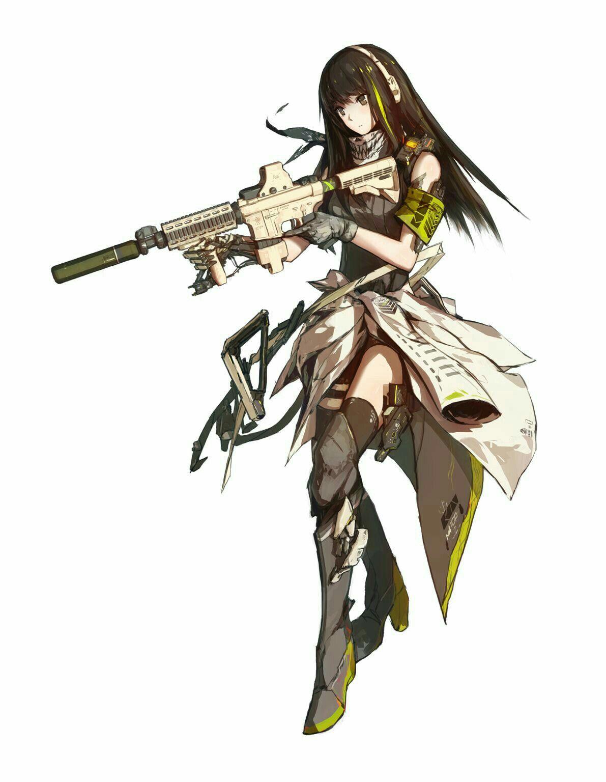 Girl anime animegirl weapon knife gun wallpapers - Anime girl with weapon ...