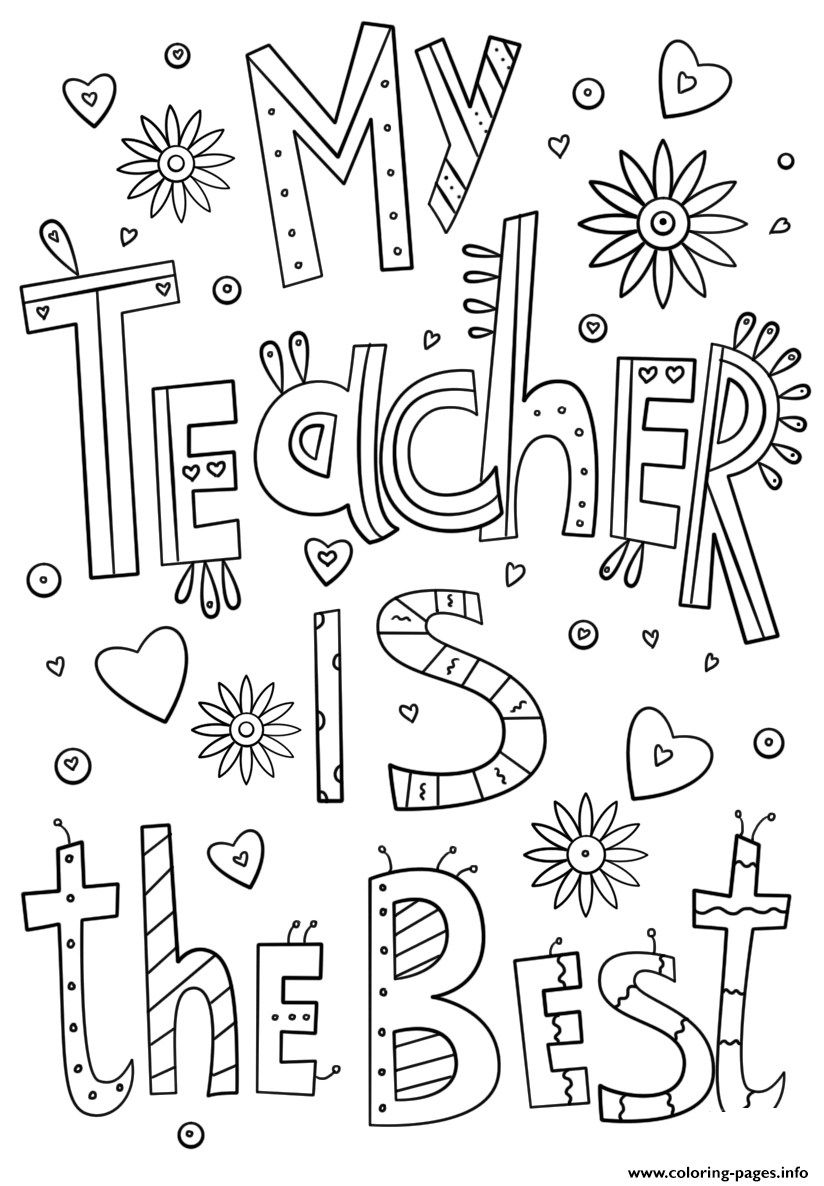 Thank You Teacher Coloring Pages Ready To Print Teacher Appreciation Gifts Diy Teacher Appreciation Printables Appreciation Printable
