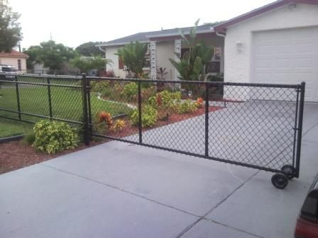 Image Result For Chain Link Driveway Gates In 2019