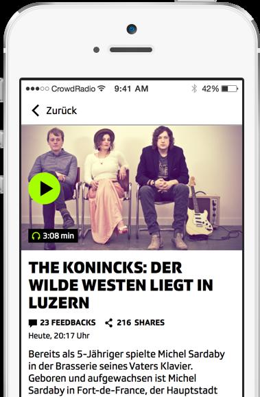 CrowdRadio | Funktionen für multimediales Radio