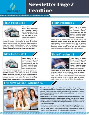 Inside Page For A Weekly Business Newsletter Great For Business