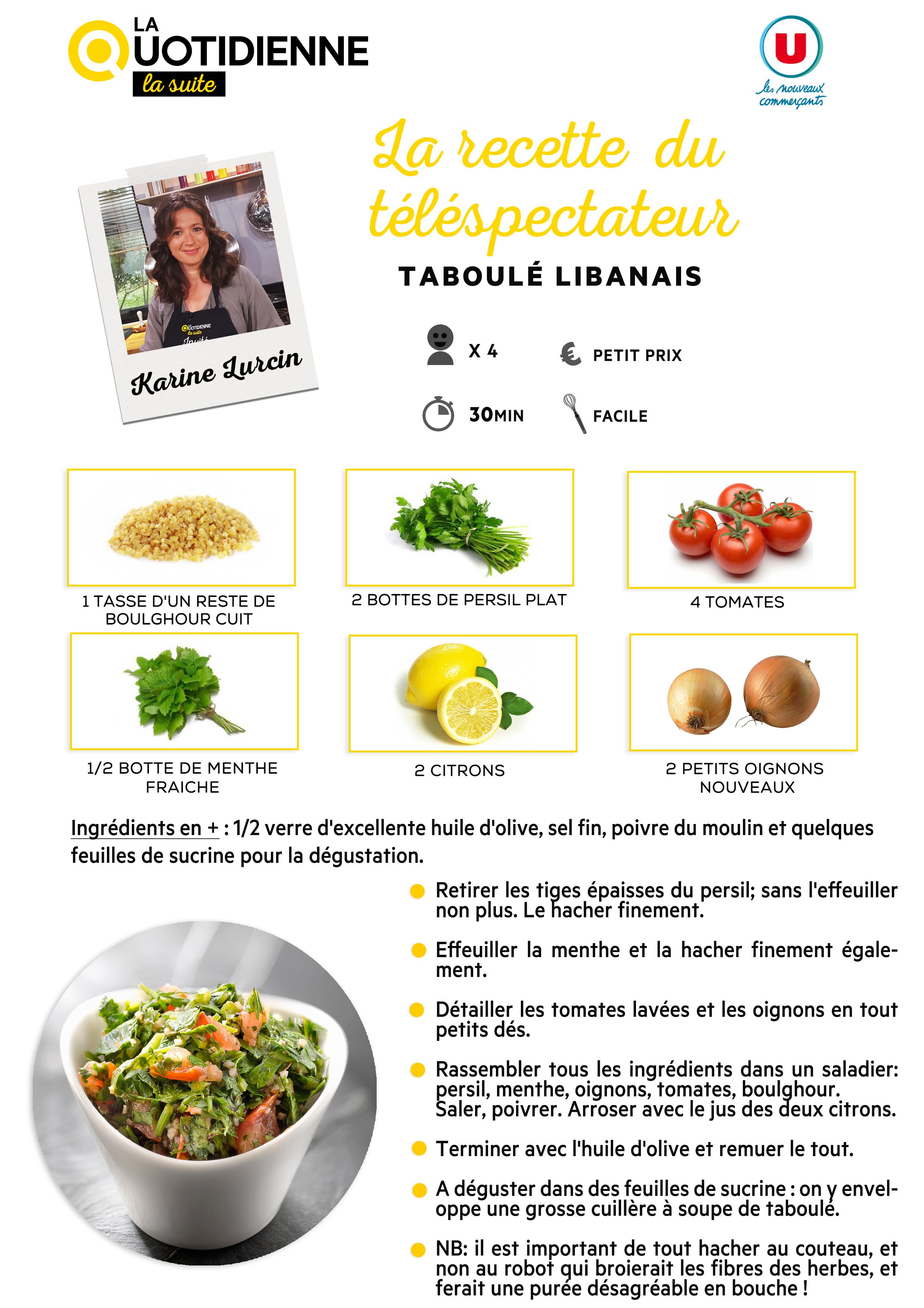 Les recettes la quotidienne la suite france 5 for Poisson les plus cuisiner