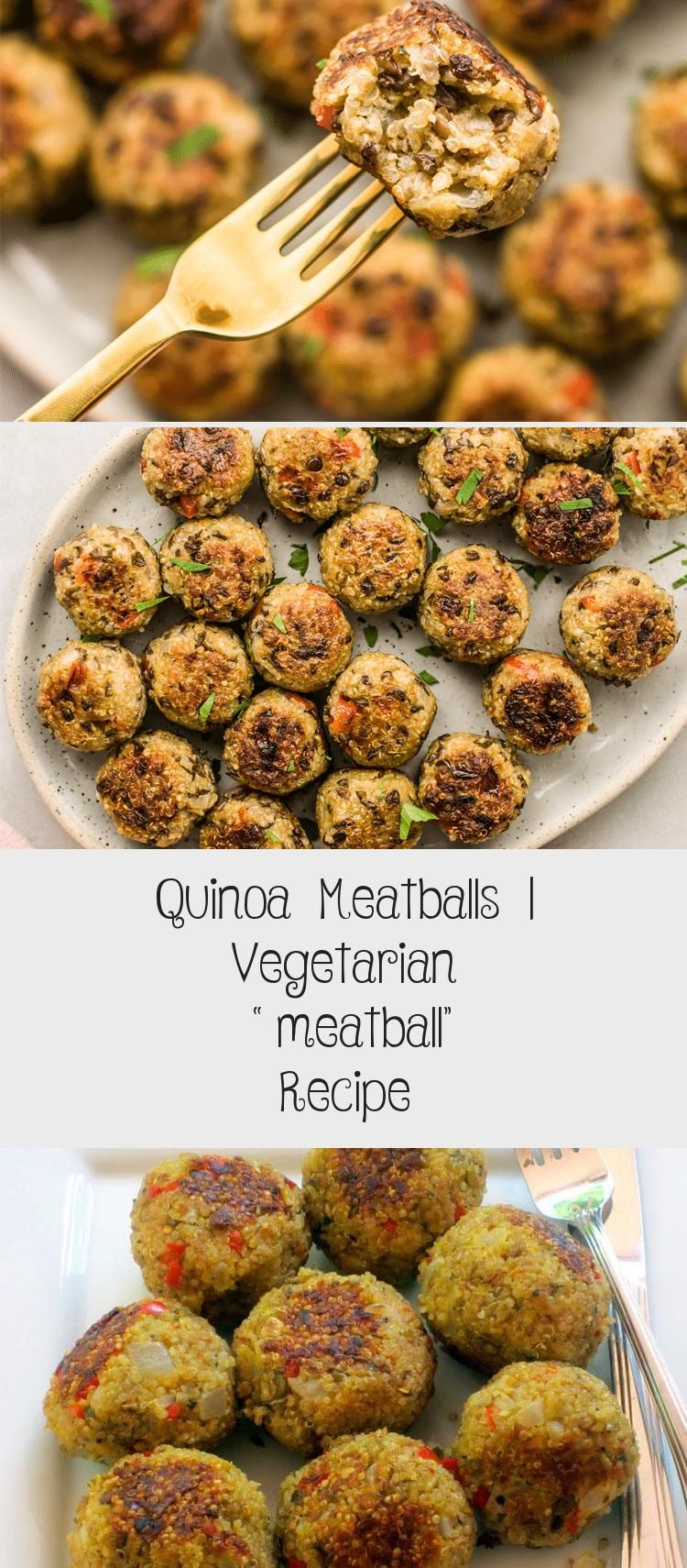 Photo of Quinoa meatballs are just as hearty as traditional beef meatballs, but are much …