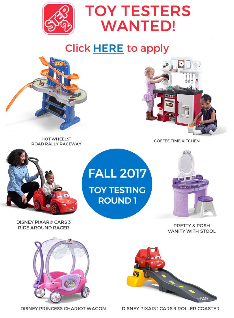 *HOT* New application period. FREE Step2 Toys (apply to be