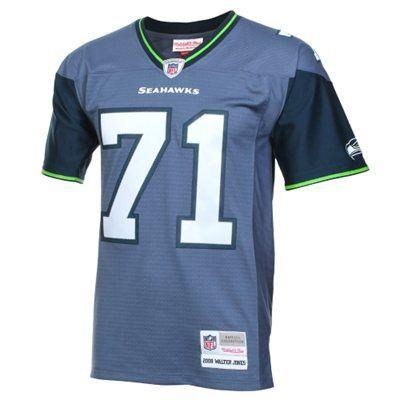 best sneakers 27a16 89d1e Mens Seattle Seahawks Walter Jones Mitchell & Ness College ...