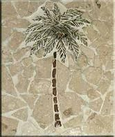 Simple Mosaic Palm Tree Tile Murals Ideas Stained Gl Patterns Trees