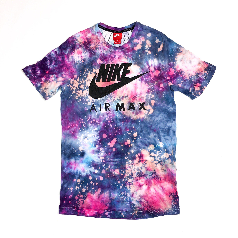 fe90590de Nike air max tie dye | Tie dye tshirt, curved hem, nike tie dye, purple tie  dye, tie dye top, yoga top, gym top, custom nike, galaxy unisex.