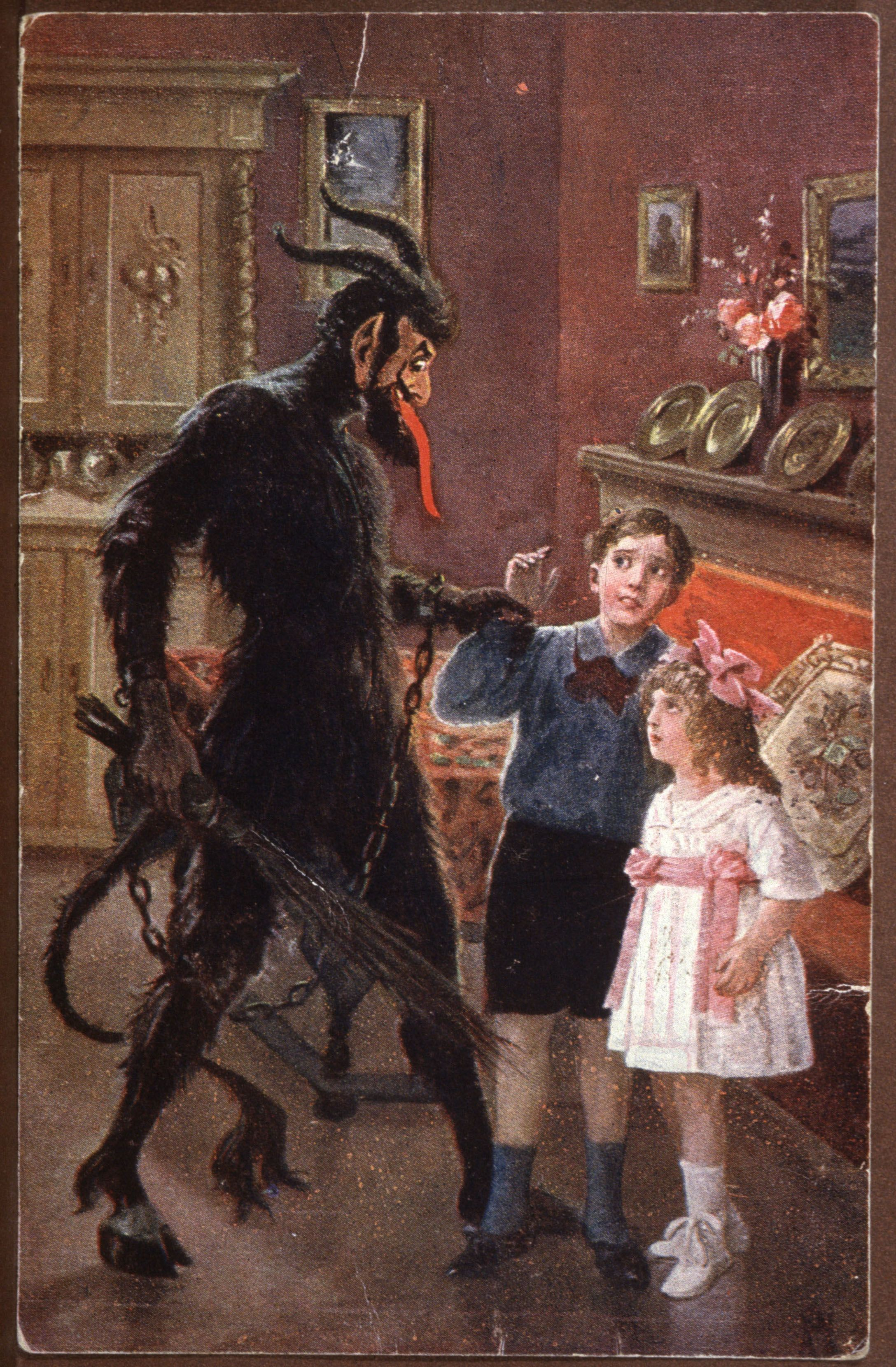 Greetings From Krampus: Gorgeous Old Postcards Of Santa's Demonic