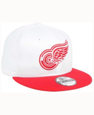 reputable site 12352 c48f6 New Era Detroit Red Wings All Day 2T 9FIFTY Snapback Cap - White Red  Adjustable