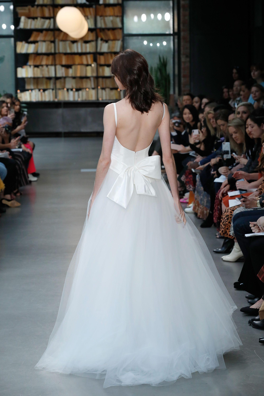 a1ef2f7bdc5f4 Taffeta camisole bodice with tulle ballgown skirt and draped taffeta bow