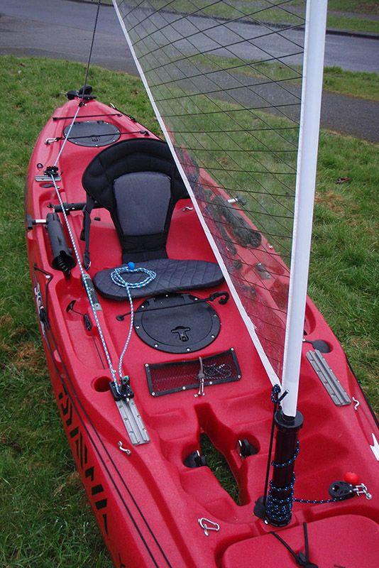View Topic Rigging The Outback For Sailing Video Added Sailing Kayak Kayaking Gear Kayak Fishing Setup
