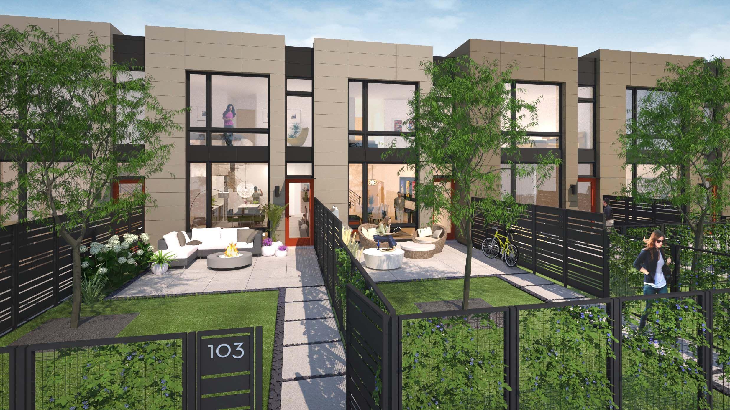 Chicago Development Outdoor gate, Facade house, Townhouse