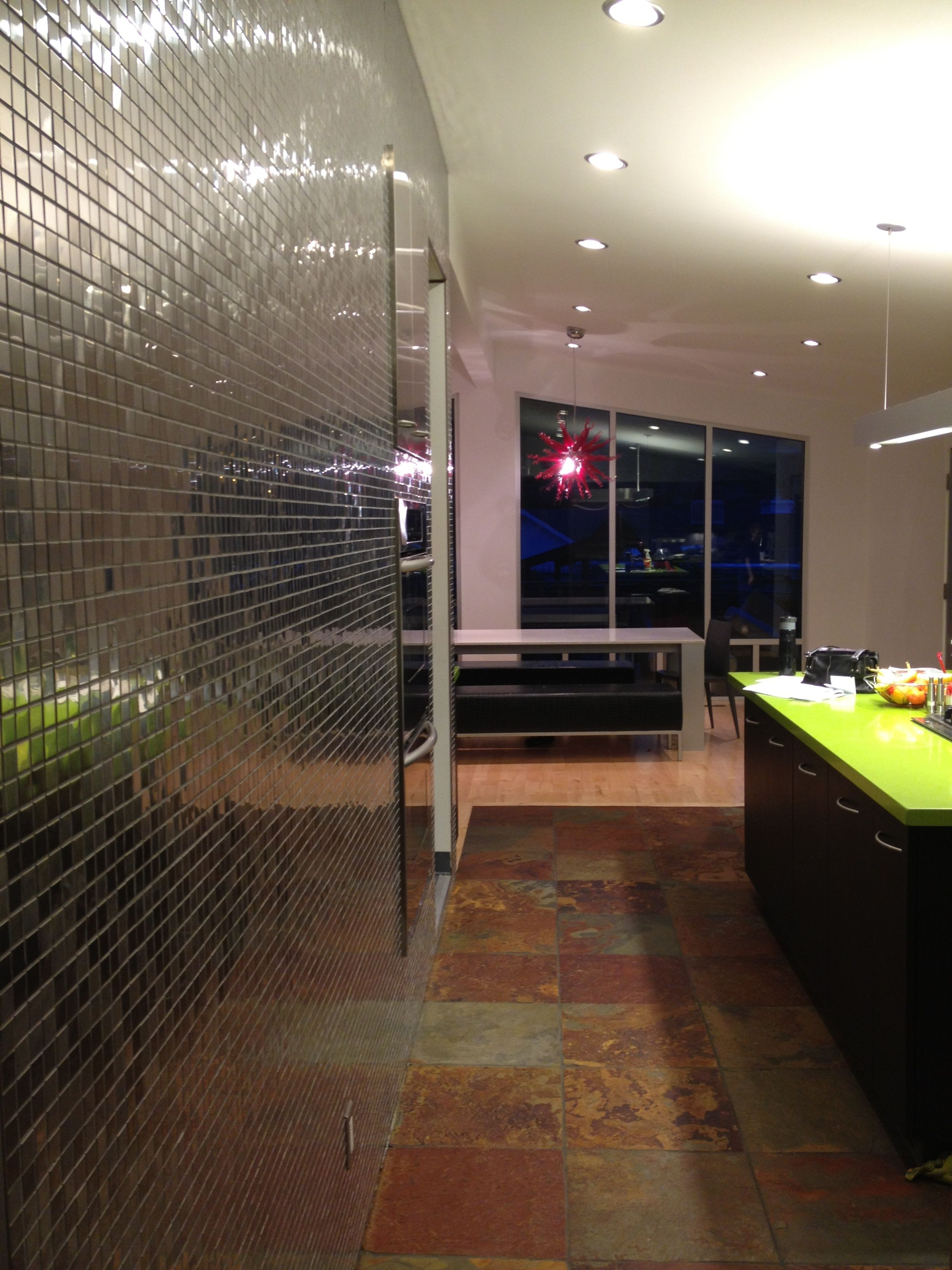 Stainless Steel Mosaic Tile X Pinterest Wall Accents - 1x1 mirror tiles