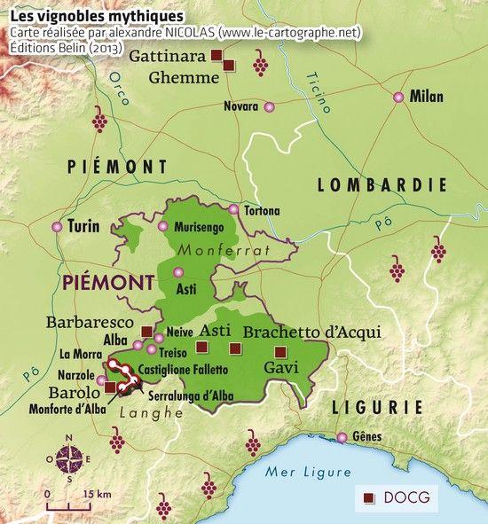 Les vignobles mythiques   Piémont | Wine regions and maps