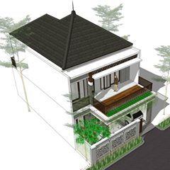 """  rumah 3kt dg roof garden di lahan 8 x 15 m   . """"good"""