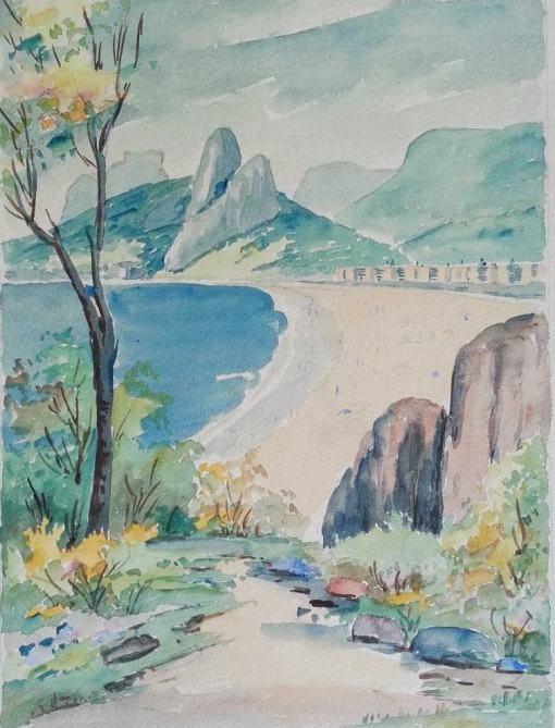 Praia do Leblon, 1959 - Paulo Gagarin (Rússia/Brasil, 1885-1980)