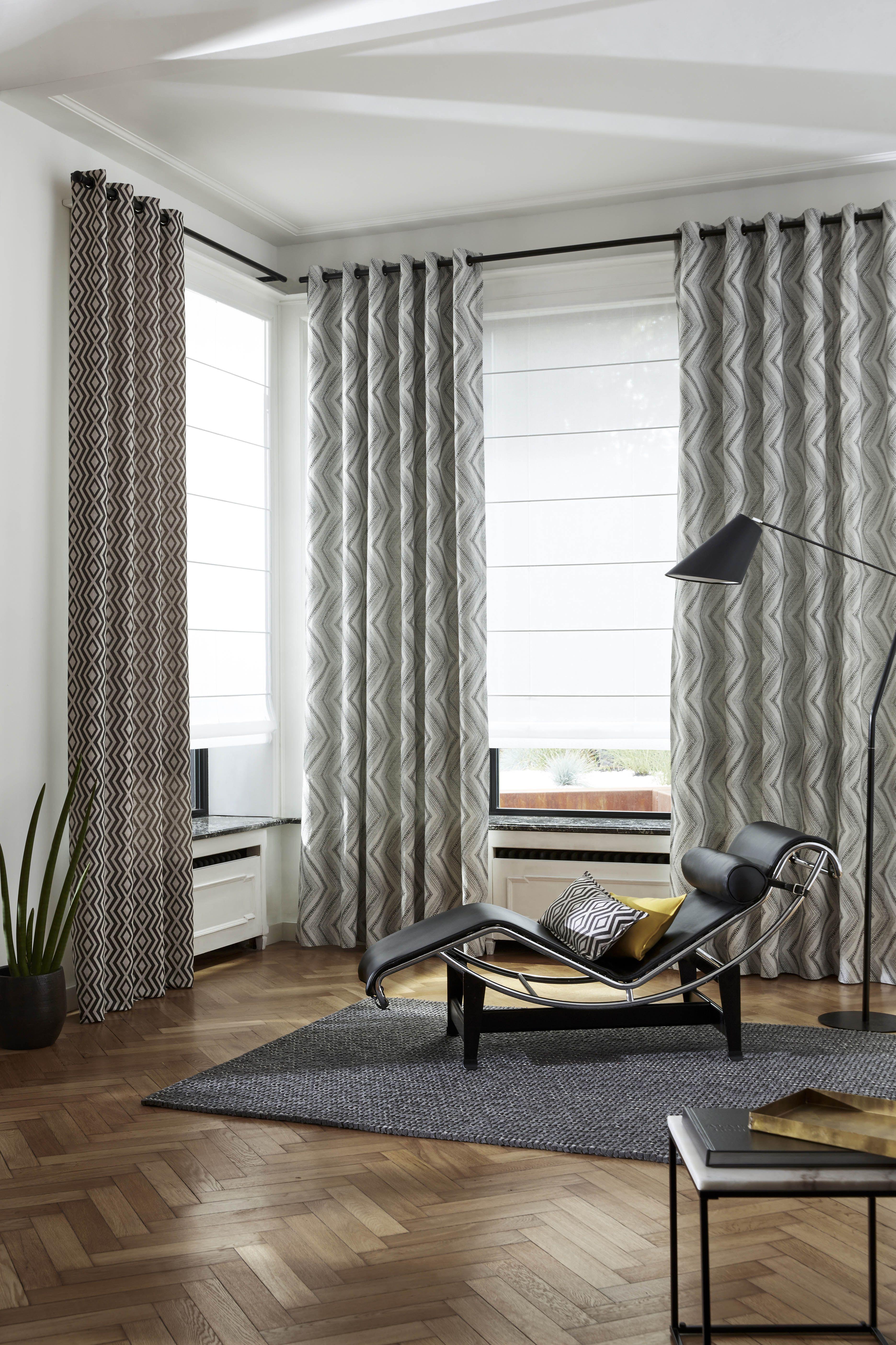 Chez vous habillage de fen tre pinterest cortinas - Cortinas negras decoracion ...