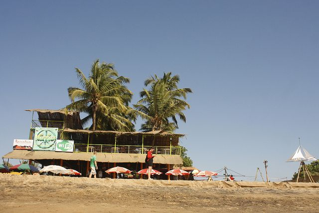 Hippies Ocean Cafe, Anjuna Beach, North Goa