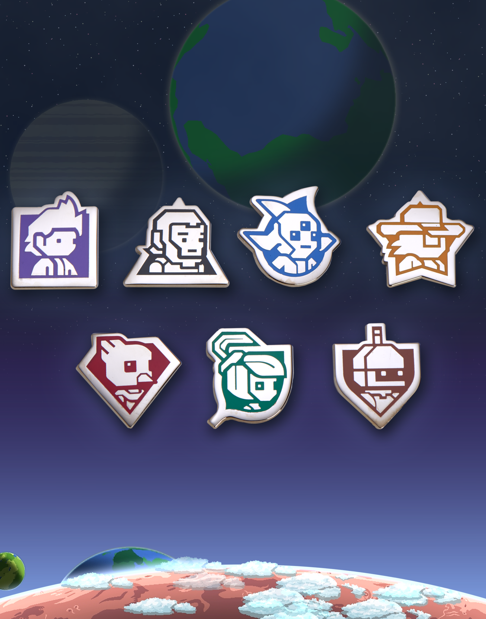 Starbound Races Pin Set From Sanshee Omg Its So Cute Starbound