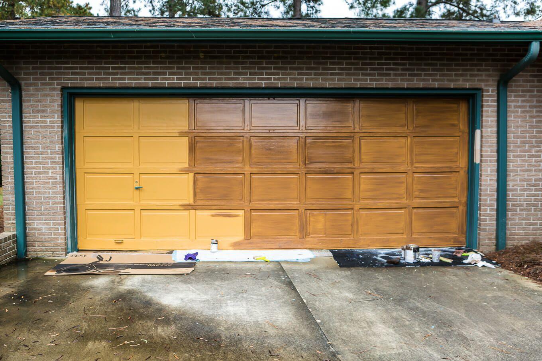 Making Over My Garage Door In 2 Days Garage Doors Metal Garage Doors Garage Door Makeover