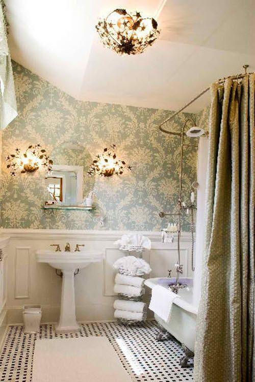 25 Black And White Victorian Bathroom Tiles Ideas And Pictures Victorian Bathroom Bathroom Interior Design Victorian Interiors
