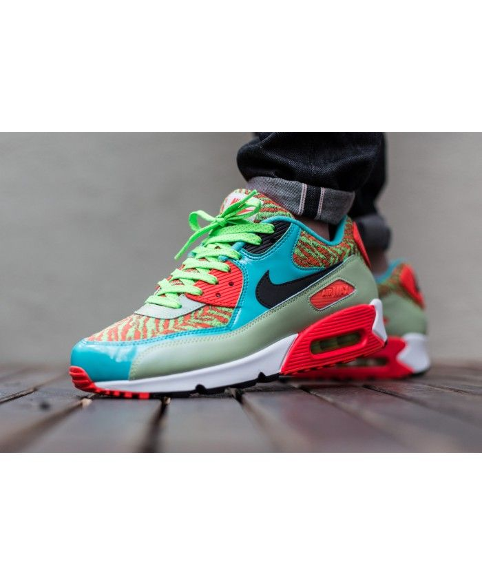 Air Max 90 Anniversary Flash Lime Hyper Jade Infrared Trainer Very weight  weight of the most · Cheap Nike ...