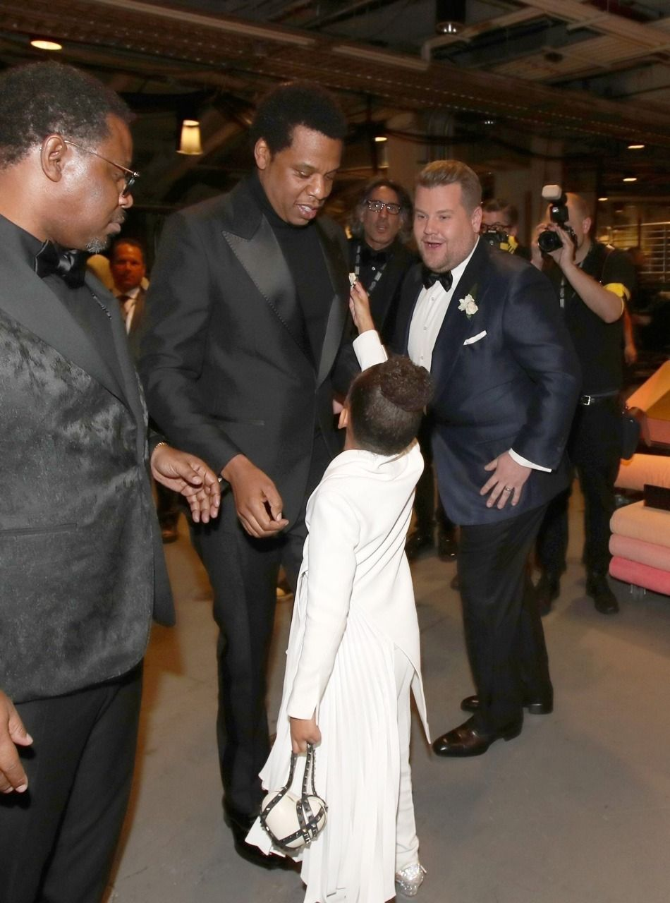 Jay Blue Ivy With James Corben Backstage At The 60th Annual Grammy Awards At Madison Square Garden New York City 28th Blue Ivy Blue Ivy Carter Beyonce Queen
