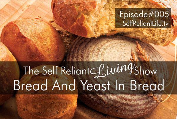 Harina y la levadura en el pan