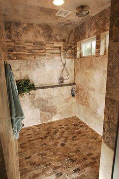 Doorless Shower Design Ideas Pictures Remodel And Decor Doorless Shower Design Doorless Shower Glamorous Bathroom Decor