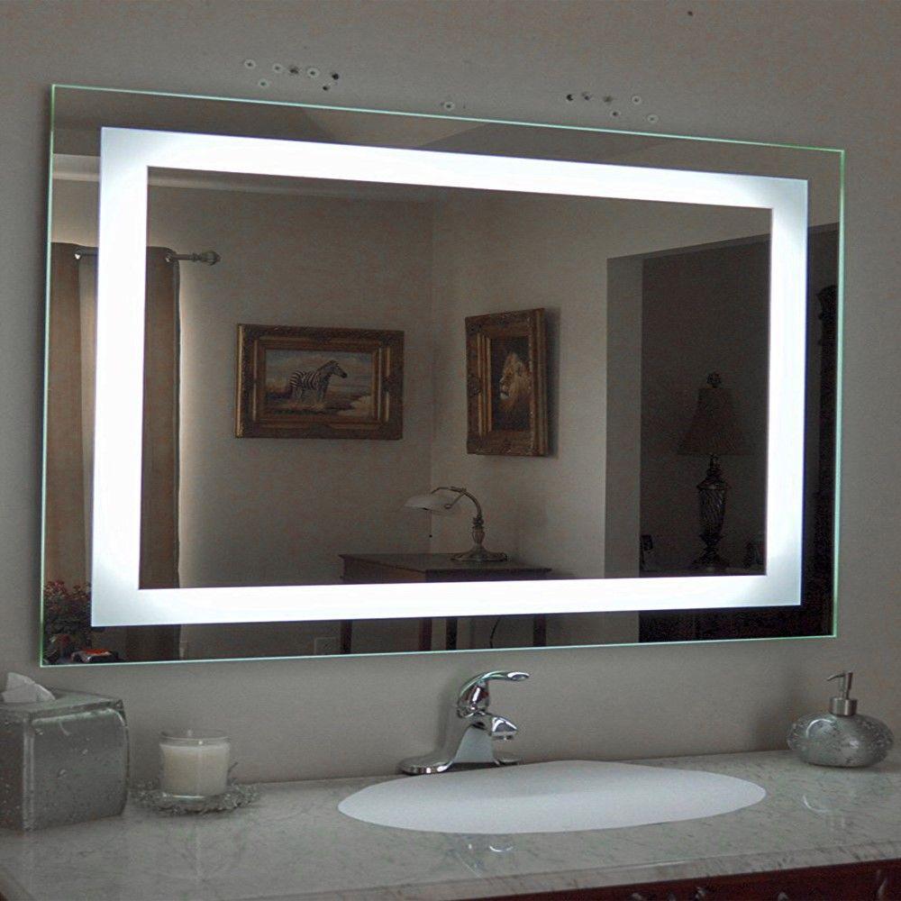 Interfave antifog led backlit mirror illuminated wall mirror