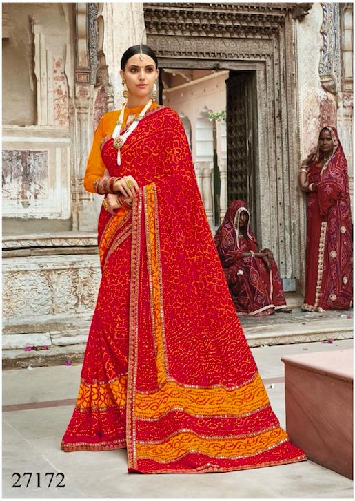 c793703a8f Breathtaking Georgette Printed Bandhani Saree in 2019   Fashion ...