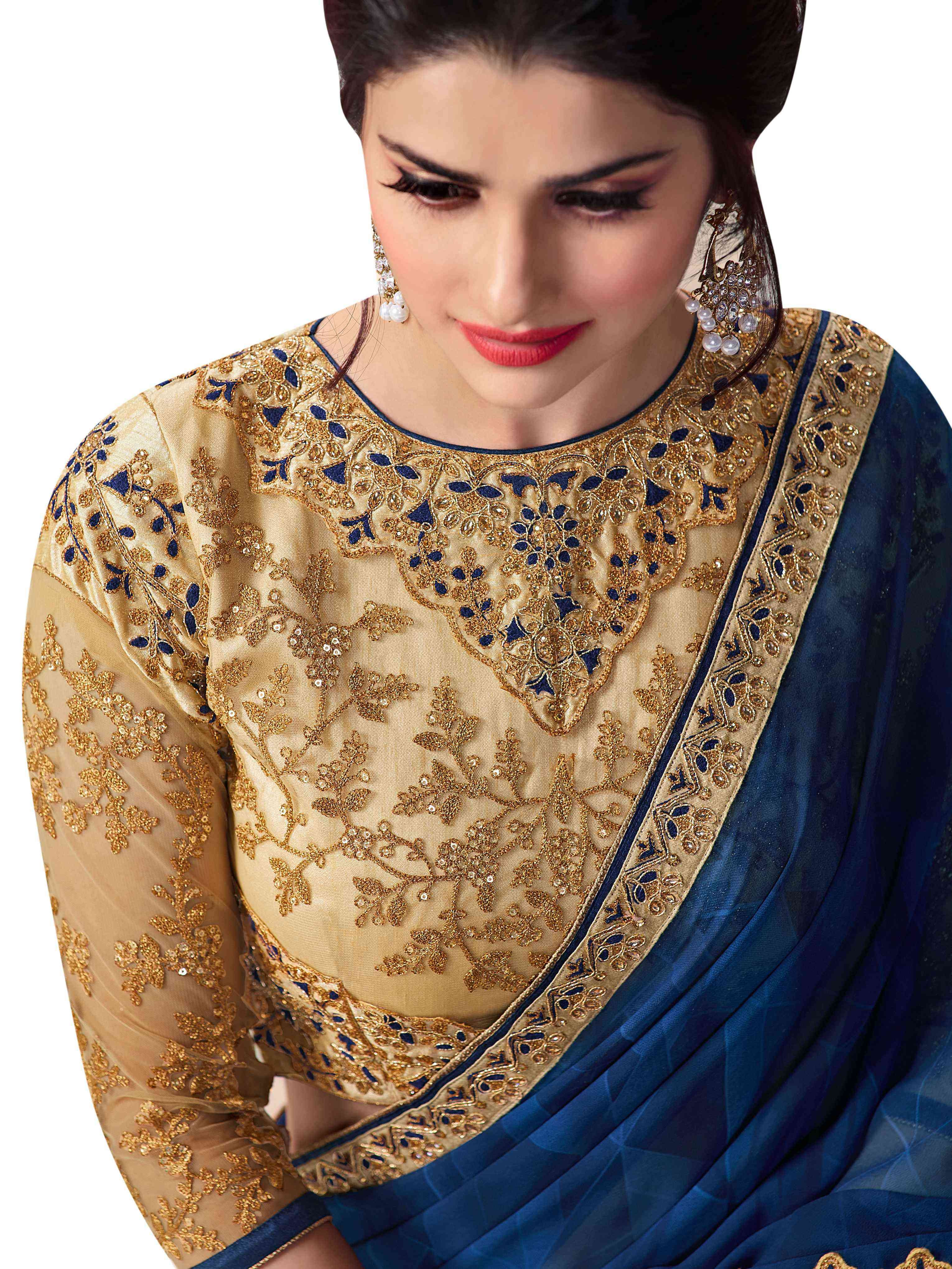 Party Wear Saree Blouse Design Awesome Embroidery Work Blouse Designs Latest Saree Blouse Designs Blouse Designs High Neck