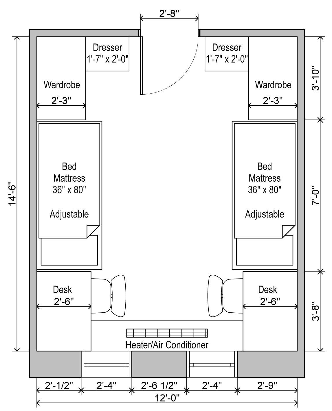 Brumby Hall, Standard Plan
