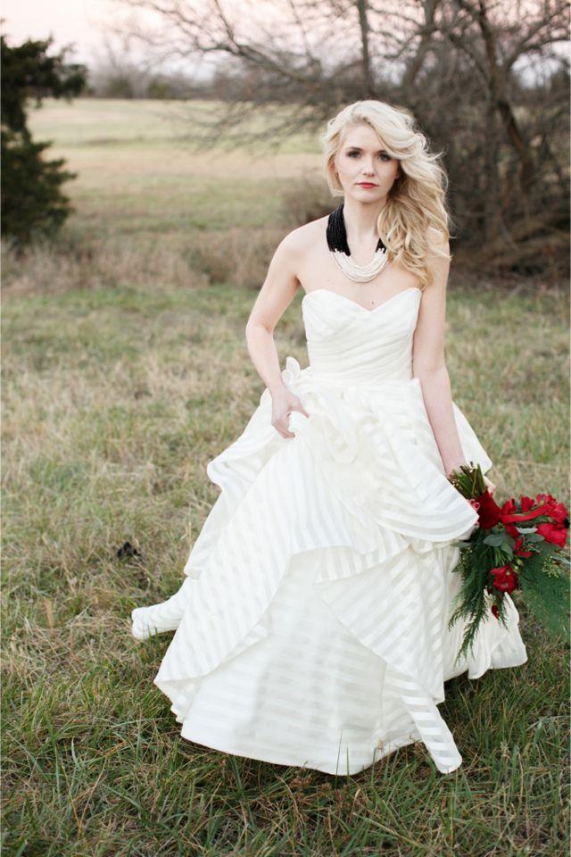 striped hayley paige wedding dress alea lovely photography http