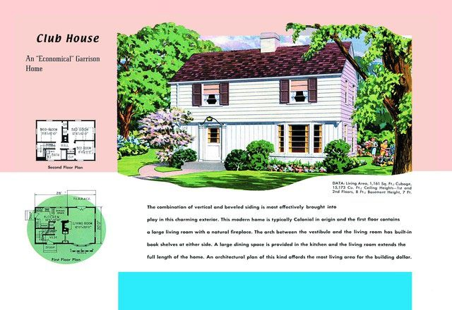 Colonial Revival Houses And Neocolonial Houses Club House House Plans House