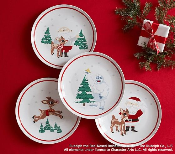 Ceramic Rudolph The Red Nosed Reindeer 174 Plate Set