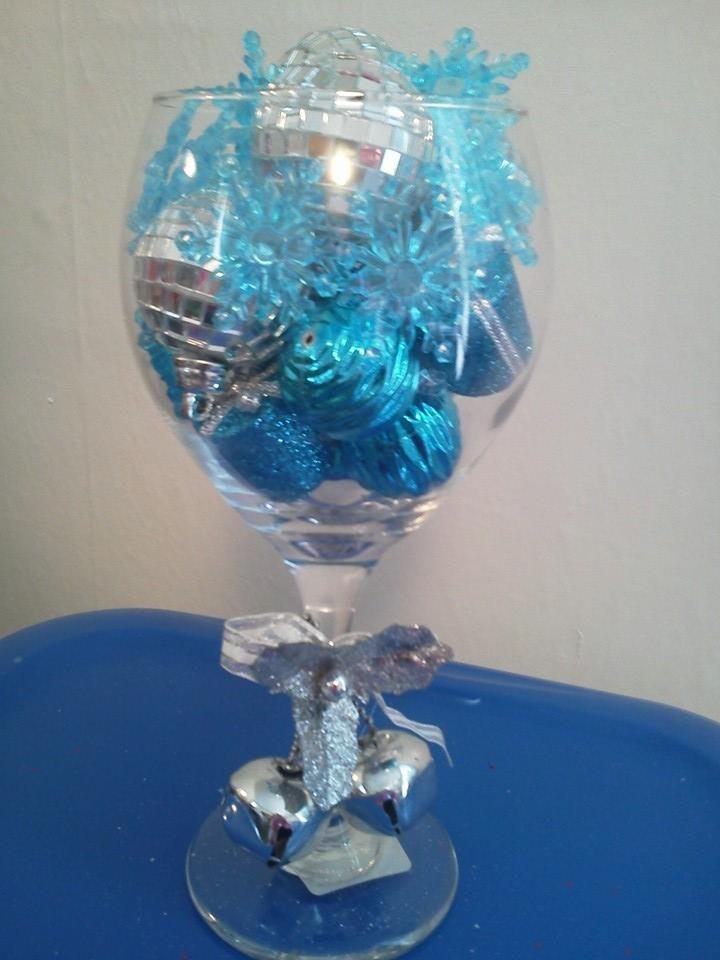 Christmas Centerpiece Wine Glass Centerpieces Wine Glass Decor Christmas Wine Glasses