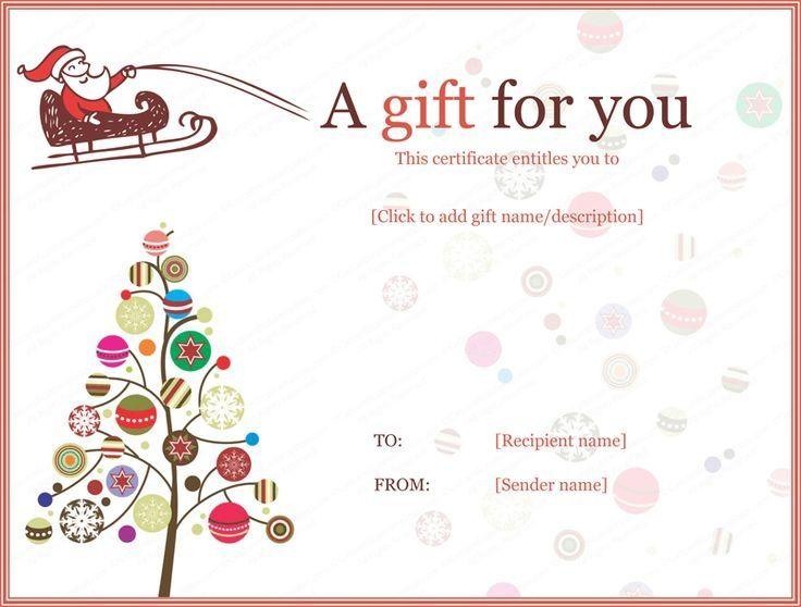 christmas magazine gift certificate Christmas Certificates - christmas certificate template