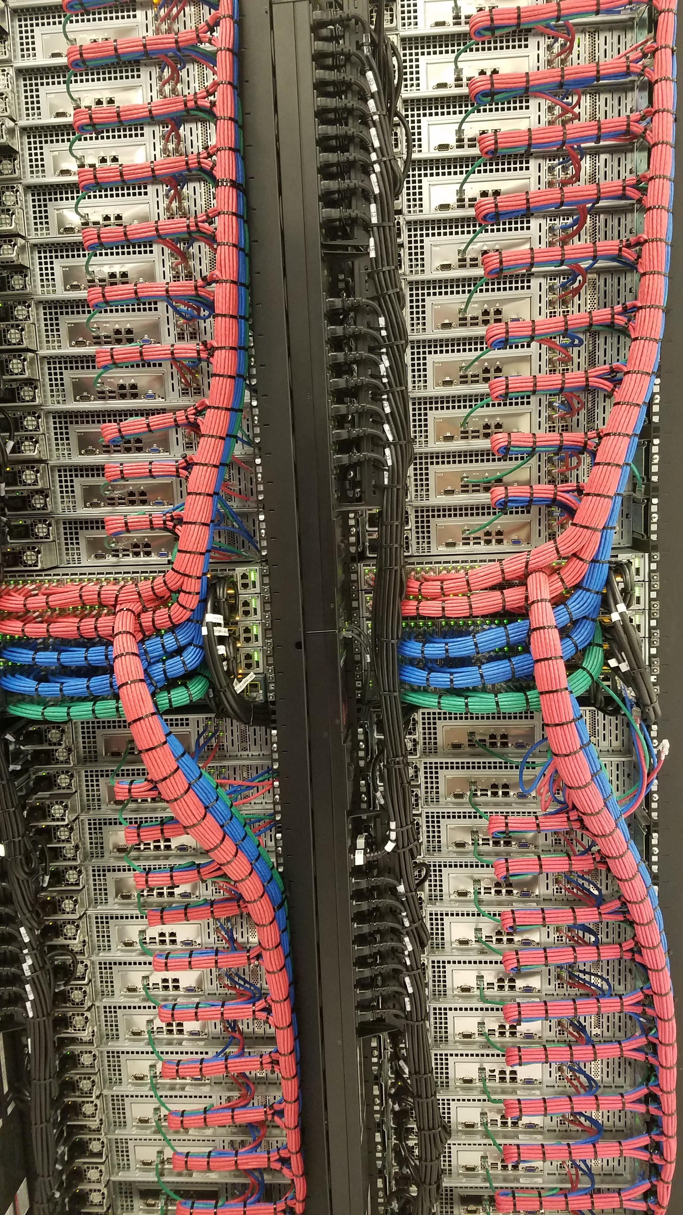 Beautiful back cabling job in data centers. | Structured ... on