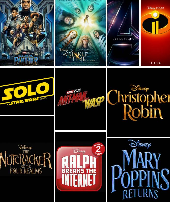 All The Disney Movies Coming Out In 2018