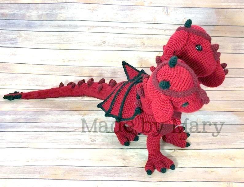 PDF Pattern: Winter Dragon **Crochet pattern only, not actual doll ... | 608x794