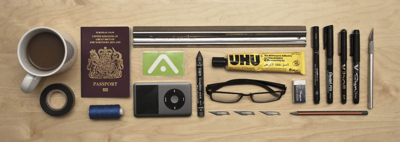 Architect Student submission: architecture student survival kit. not shown: fifteen