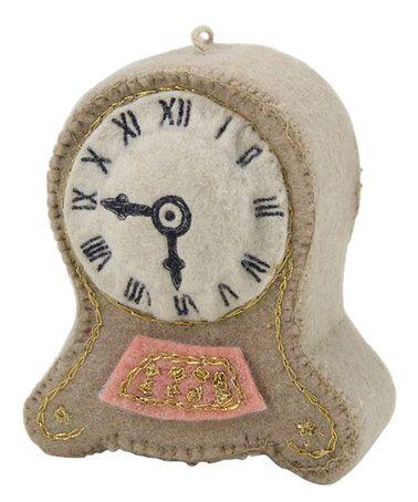 Look at this #zulilyfind! Stitched Desk Clock Ornament #zulilyfinds